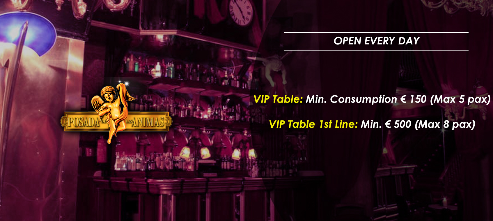 prices tables vip disco  posada